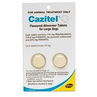 Cazitel Flavoured Allwormer for Dogs 35Kgs (77lbs)