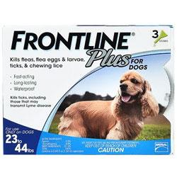 Frontline Plus for Medium Dogs, Blue, 10 -20 Kg (23-44 lbs)