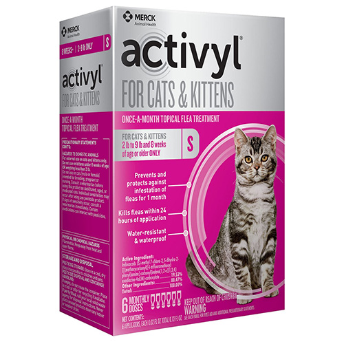 Activyl for Small Cats, Orange, Up To 4 Kg (Up To 9lbs)