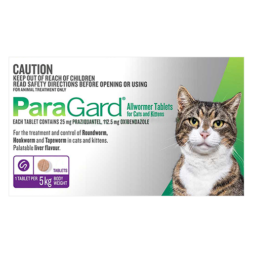 Paragard Wormer for Cats 5 Kg (11lbs)