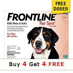 Frontline Top Spot for Extra Large Dogs, Red, 40-60 Kg (89-132lbs)