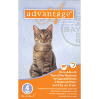 Advantage for Kittens & Small Cats Up to 4.5 Kg (Up To 10lbs)