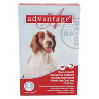 Advantage for Large Dogs, Red, 10 - 25 Kg (21-55lbs)