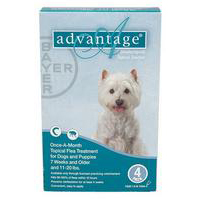 Advantage for Medium Dogs, Aqua, 4 - 10 Kg (11-22lbs)