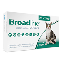 Broadline Spot-On Solution for Large Cats 2.5 - 7.5 Kg (2.5-16.5lbs)