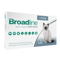 Broadline Spot-On Solution for Small Cats Up To 2.5 Kg (Up To 5.5lbs)