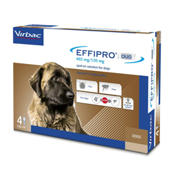Effipro DUO Spot-On  for Extra Large Dogs, Over 40 Kg (Over 88lbs)