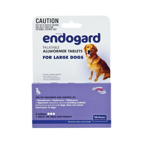 Endogard for Large Dogs 20 Kg (44lbs)
