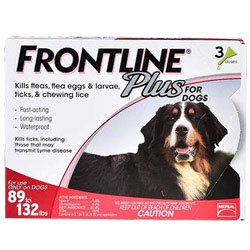 Frontline Plus for Extra Large Dogs, Red,  Over 40 Kg (Over 88lbs)