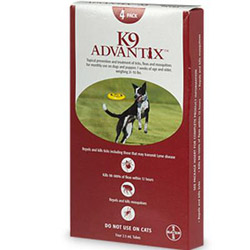 K9 Advantix for Large Dogs, Red, 10-25 Kg (21-55lbs)