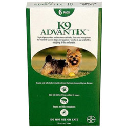 K9 Advantix for Small Dogs/Pups, Green,  Up To 4 Kg (Up to 10lbs)
