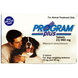 Program Plus for Dogs, White, 23 - 45 Kg (46-90lbs)
