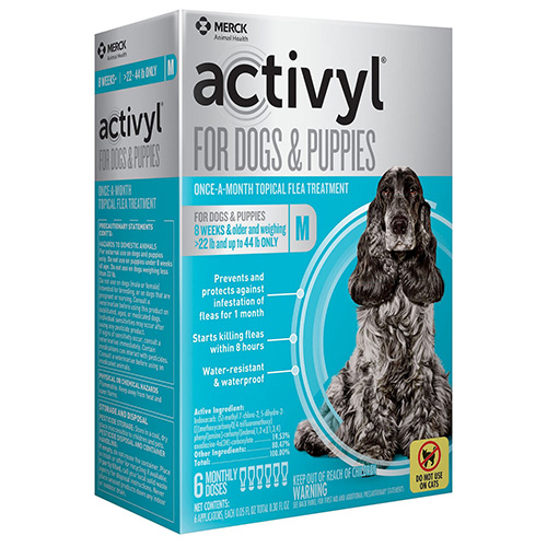 Activyl for Medium Dogs, Pink, 10 - 20 Kg (22-44 lbs)