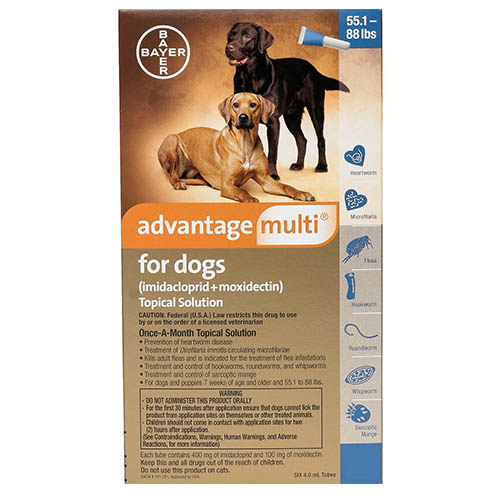 Advantage Multi (Advocate) for Extra Large Dogs, Blue, 25.1 - 40 Kg (55-88lbs)