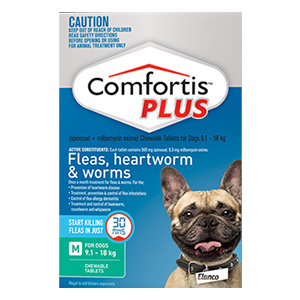 Comfortis Plus For Dogs For Dogs 20.1 - 40 Lbs ( Green )