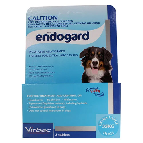Endogard For Extra Large Dogs 35 Kg (77lbs)