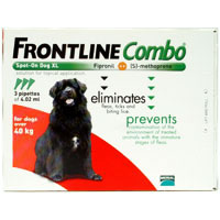 Frontline Combo for Extra Large Dogs, Red,  Over 40 Kg (Over 88lbs)