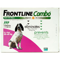 Frontline Combo for Large Dogs, Purple, 20 - 40 Kg (45-88lbs)