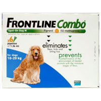 Frontline Combo for Medium Dogs, Blue, 10 -20 Kg (23-44 lbs)