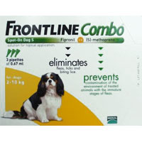 Frontline Combo for Small Dogs, Orange, Up To 10 Kg (Up To 22 lbs)