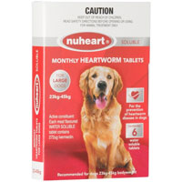 Heartgard Plus Generic Nuheart for Large Dogs, Red, 23 - 45 Kg (51-100lbs)