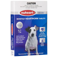 Heartgard Plus Generic Nuheart for Small Dogs, Blue, Up To 11 Kg (Up To 25lbs)