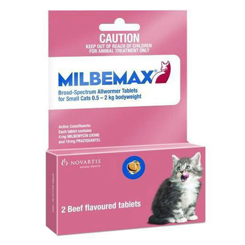 Milbemax For Cats Up To 2 Kg (Up To 4.4lbs)