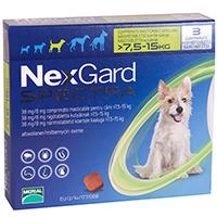 Nexgard Spectra Tab for Medium Dogs, Green, 7.6 - 15 Kg (16.5-33lbs)