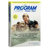 Program Flavor Tabs for Medium Dogs, Brown, 6.8 - 20 Kg (14.8-44lbs)