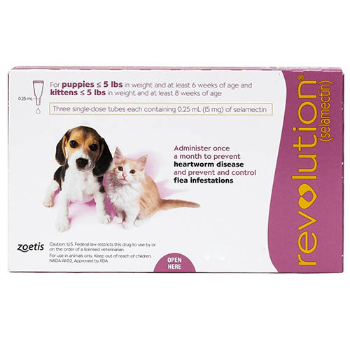 Revolution for Kittens & Puppies, Pink, Up To 2.5 Kg (Up To 5lbs)