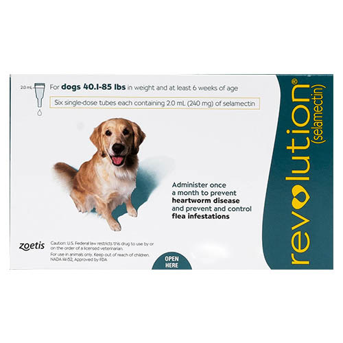 Revolution for Large Dogs, Green, 20.1 - 40 Kg (40.1-85lbs)