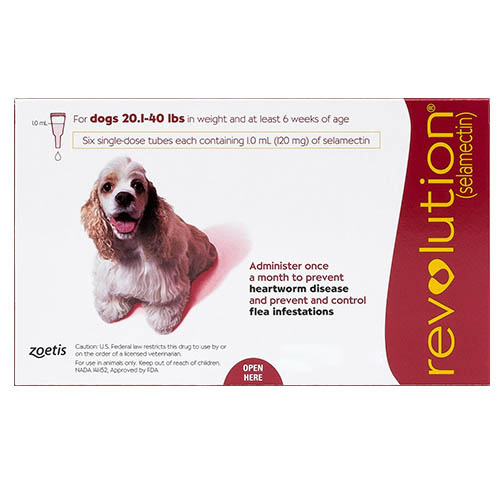 Revolution for Medium Dogs, Red, 10.1 - 20 Kg (20.1-40lbs)