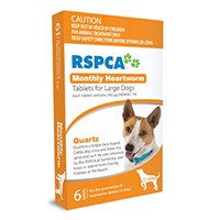 RSPCA Monthly Heartworm Tablets for Large Dogs, Orange, 21 - 40 Kg (45-88lbs)