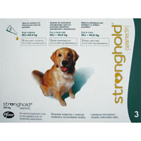 Stronghold for Dogs, Green, 20.1 - 40 Kg (45-88lbs) 240mg
