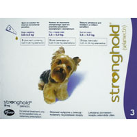 Stronghold for Dogs, Violet, 2.6 - 5 Kg (5.1-10lbs) 30mg