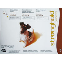 Stronghold for Dogs, Brown, 5.1 - 10 Kg (11-22lbs) 60mg